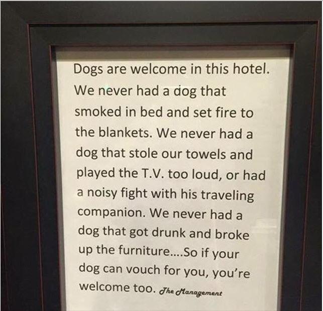 Il cartello che spiega perchè i cani sono meglio dei padroni