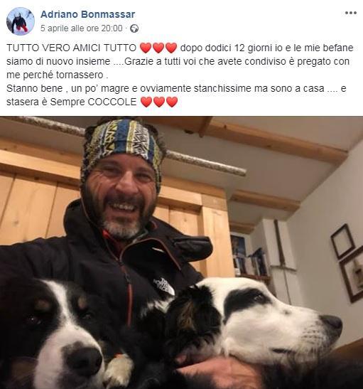 Cani dispersi in montagna: Kim e Lucy sono state ritrovate dopo 12 giorni