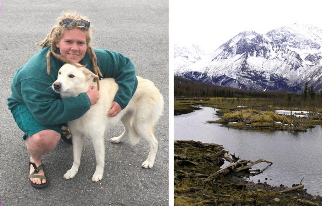Escursionista cade in montagna e viene salvata da un cane lupo bianco