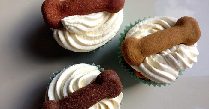 cupcake con biscotti per cani