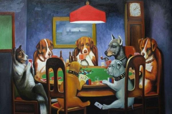 cani che giocano a carte