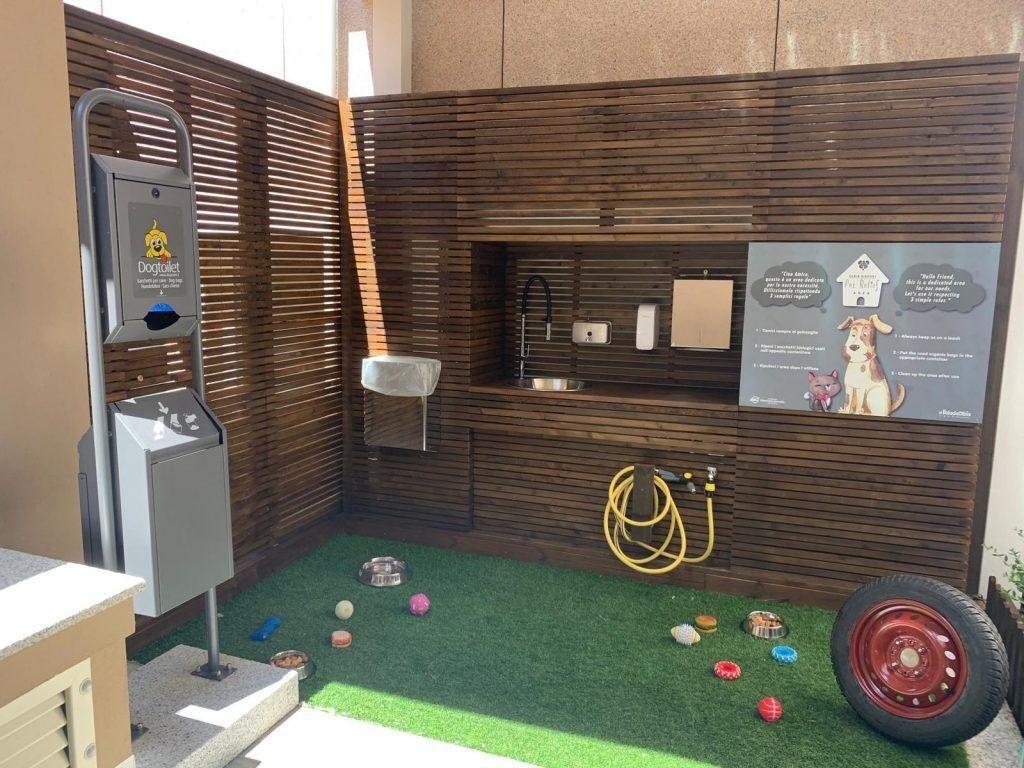 Area per cani all'aeroporto di Olbia
