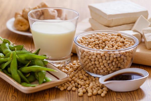 latte e semi di soia
