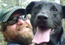 Cane Marley con il suo proprietario