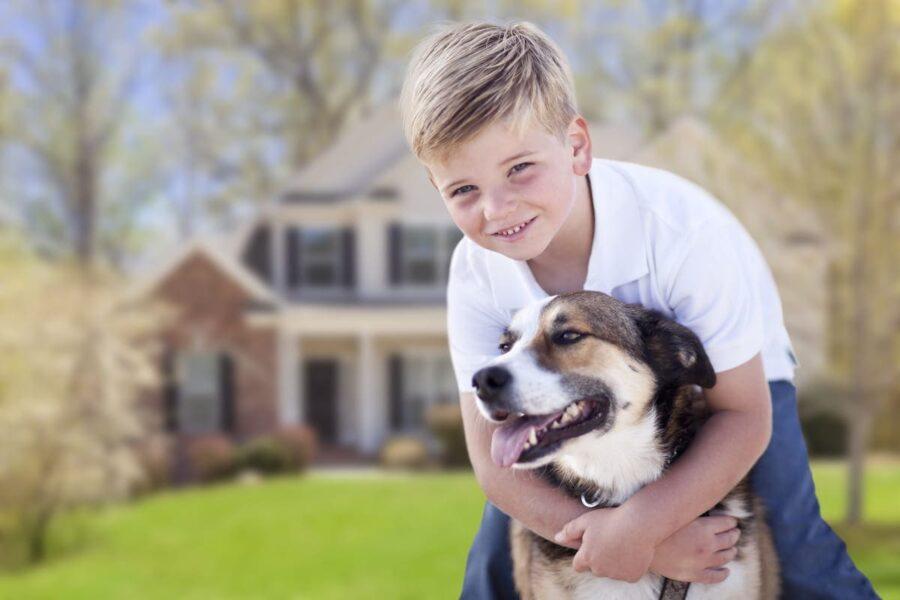 rapporto tra cane e bambino