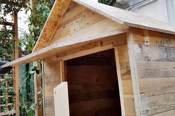 costruire una cuccia di legno