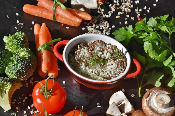pappa con riso e carote per cani