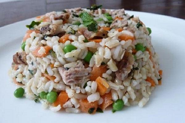 tortino di riso per cani
