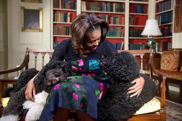 bo e sunny con michelle obama