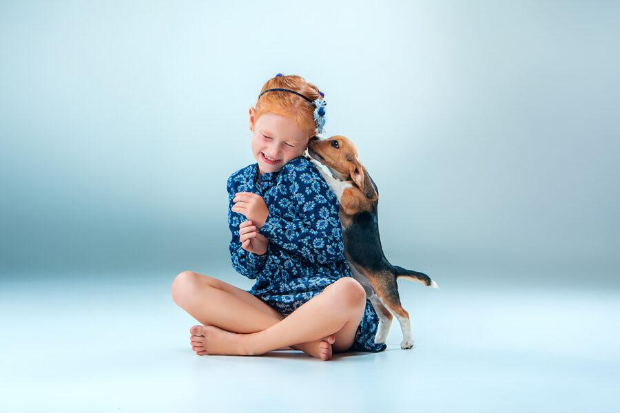 cane lecca bambina