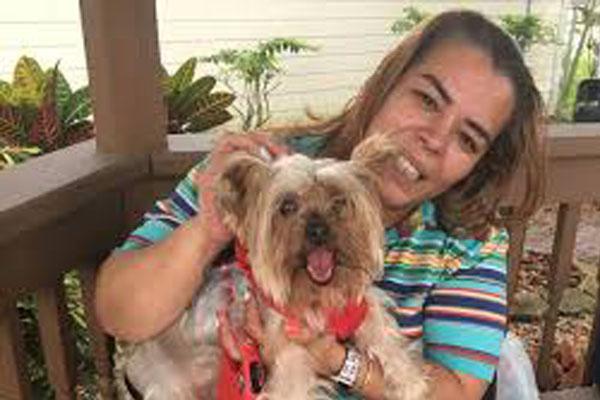 Cane con la proprietaria