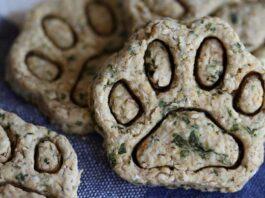 biscotti per cani con prezzemolo