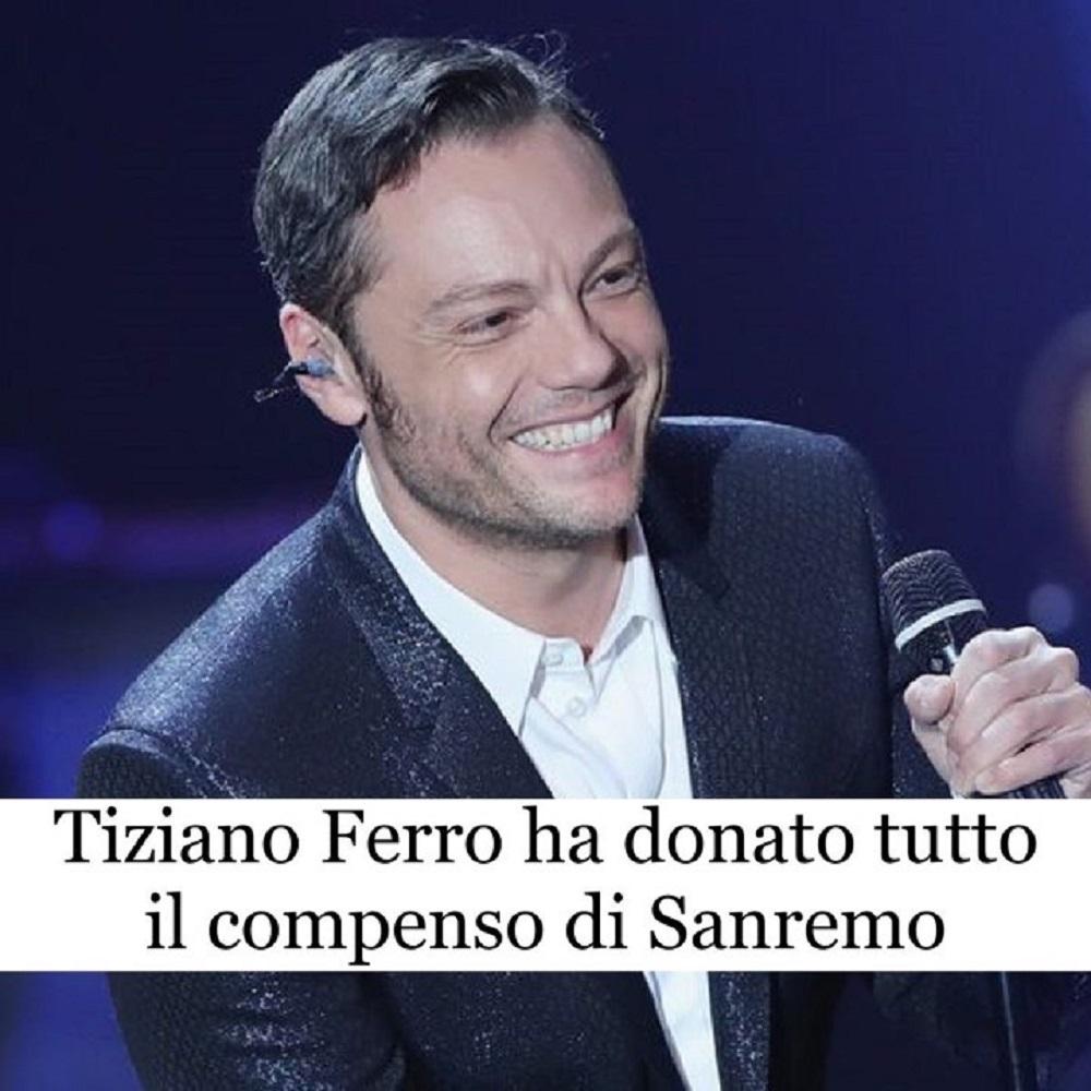 Latina, Tiziano Ferro dona i soldi di Sanremo per combattere il randagismo