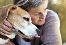 signora che abbraccia il suo cane