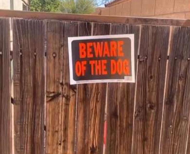 gracie cartello cancello attenti al cane