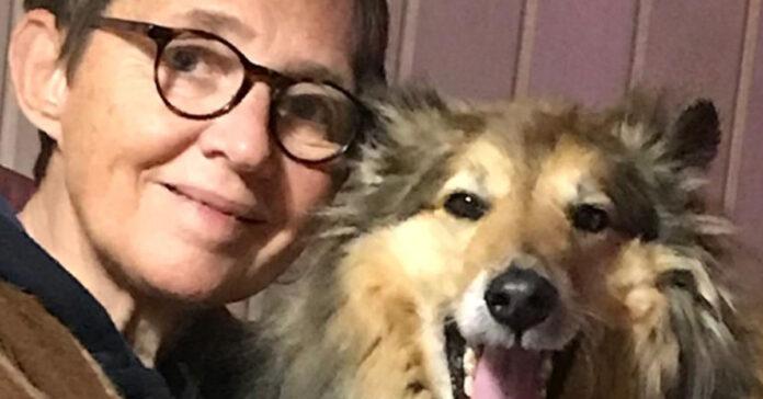 Susanna Tamaro con il suo cane