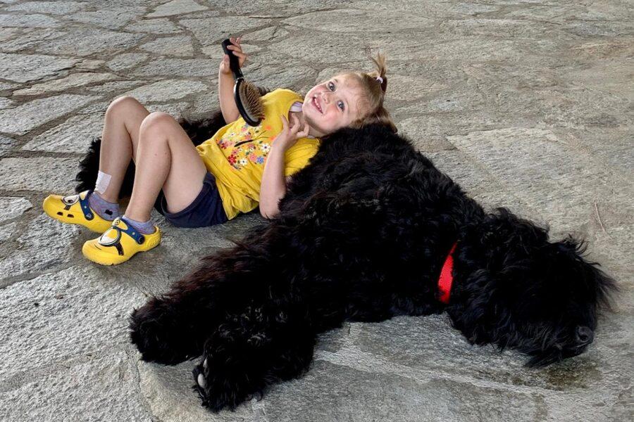 cane e bimba