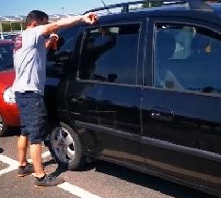 Manda il frantumi il finestrino dell'auto per salvare un cucciolo (VIDEO)