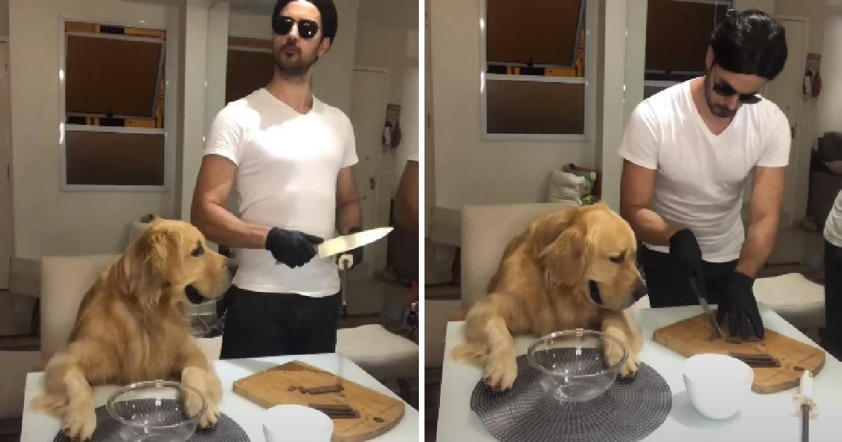 Cucciolo di Golden Retriever viene servito da Salt Bae (VIDEO)