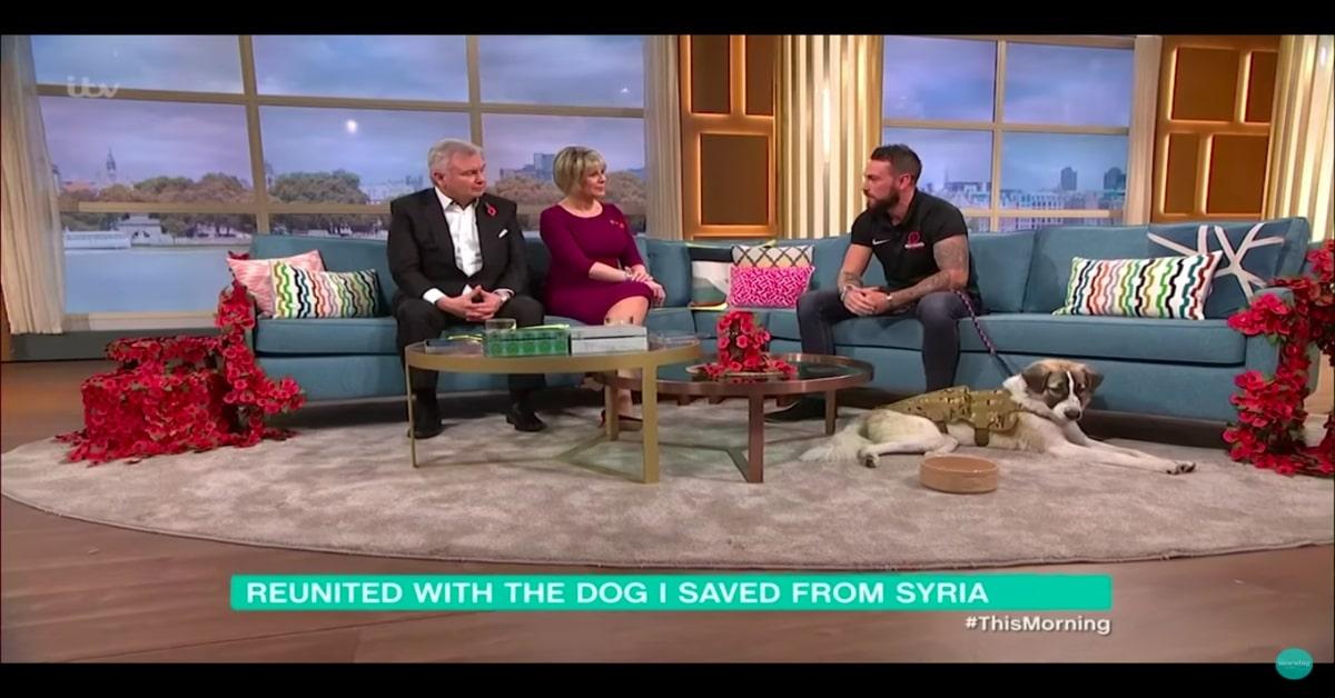 Ex soldato e un cucciolo di cane, Barrie, sono protagonisti di un emozionante rincontro (VIDEO)