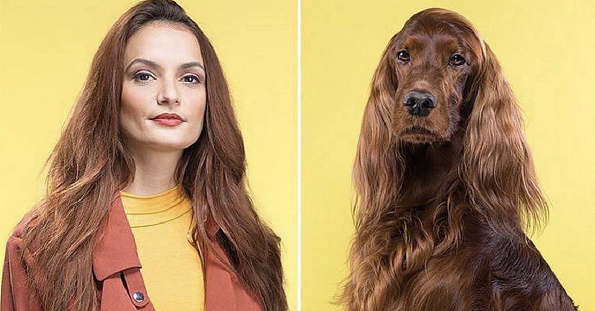 somiglianza tra cane e donna
