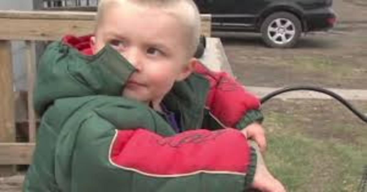 Cooper: il cucciolo incrocio Golden Retriever che ha protetto dal freddo un bimbo che si era perso, salvandogli la vita (VIDEO)