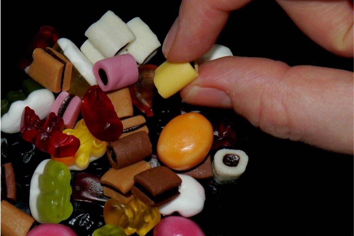 dolci e caramelle colorate