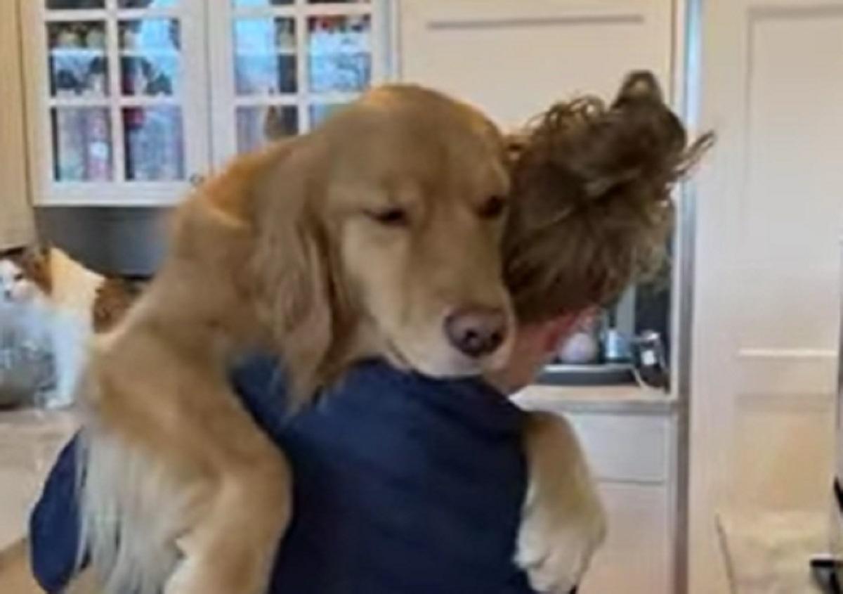 cucciolo mamma coccole