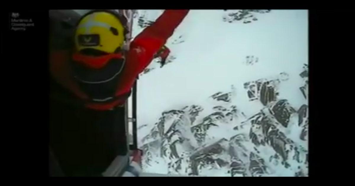 Ben viene salvato nella neve