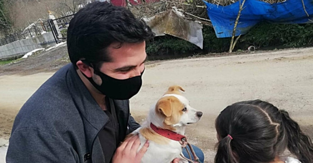 Pamuk cagnolino salvato video