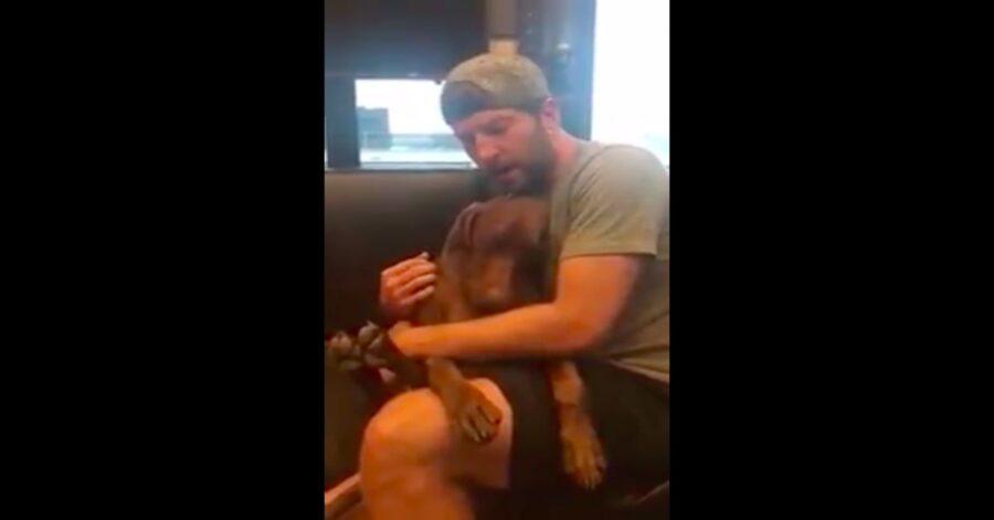 Brett canta ninna nanna al suo cane