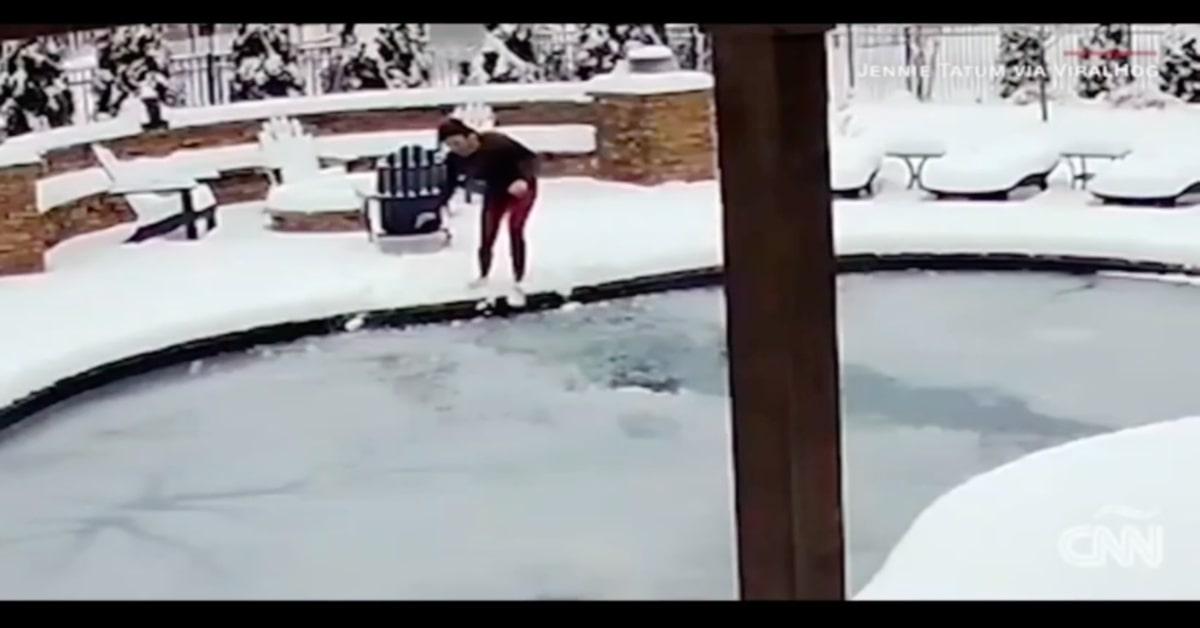 Il salvataggio del cucciolo di cane Sid, caduto accidentalmente in una piscina congelata (VIDEO)
