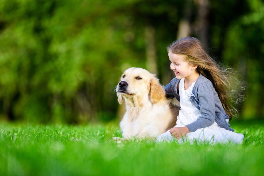 legame tra cane e bimba