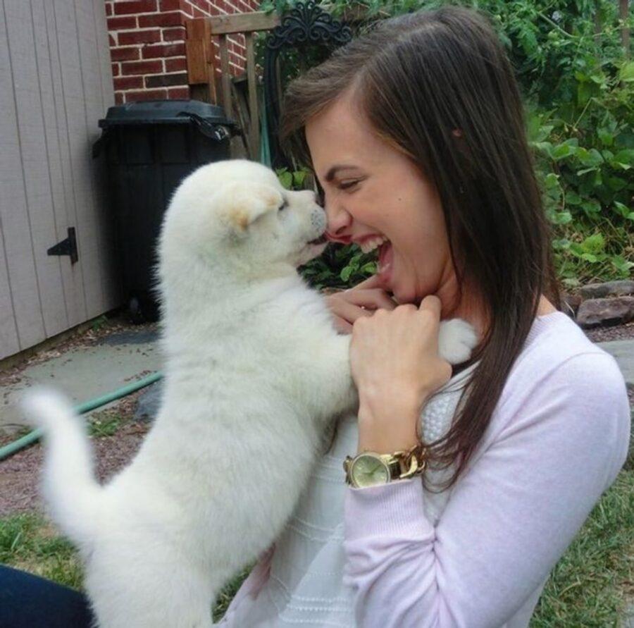 cuccioletto bianco mamma