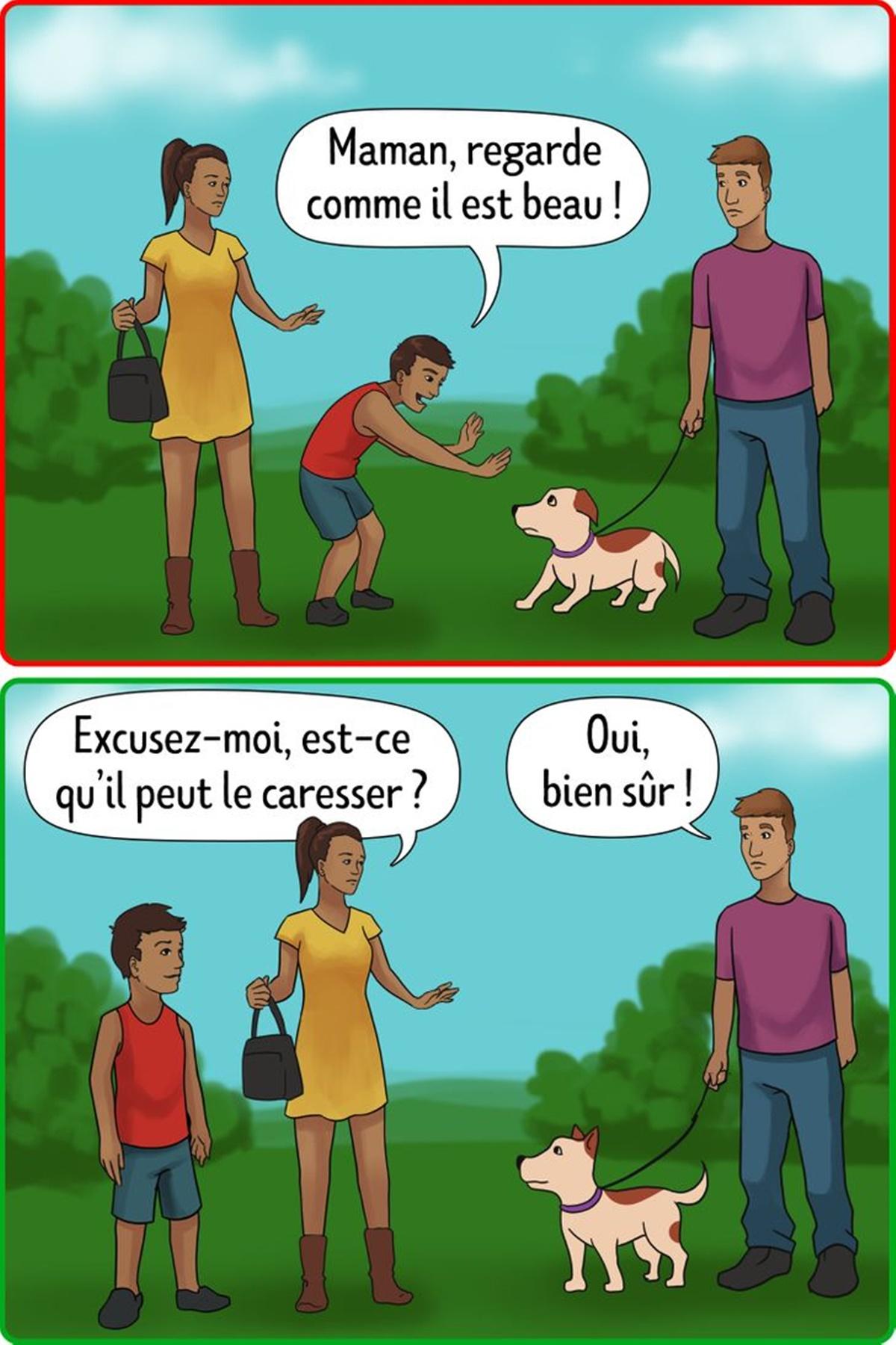 chiedere cane