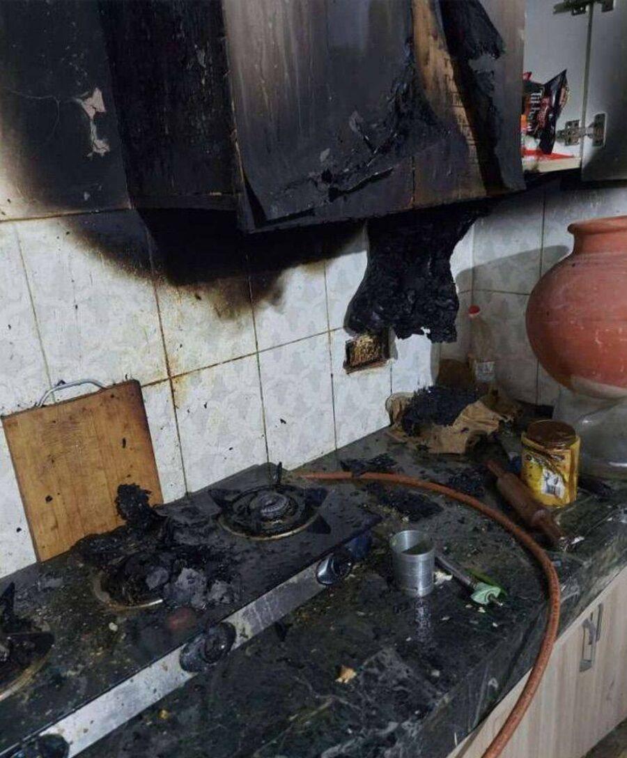 cucina bruciata