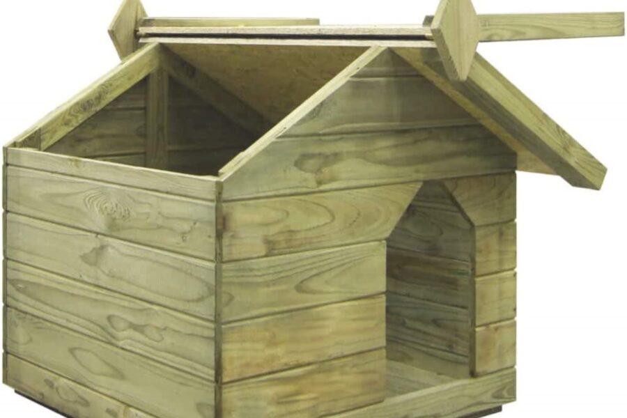 cuccia per cani con tetto apribile