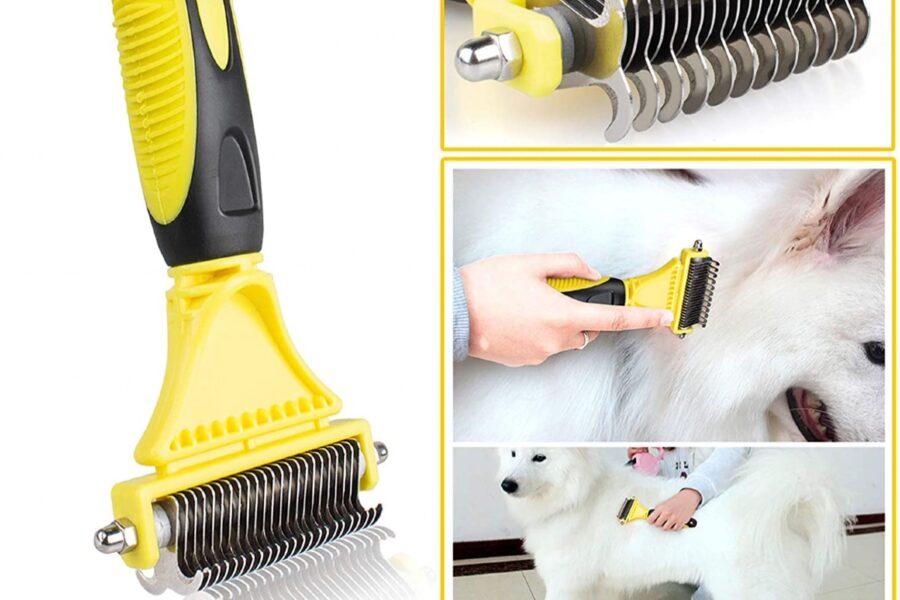 spazzola per il cane a pelo lungo