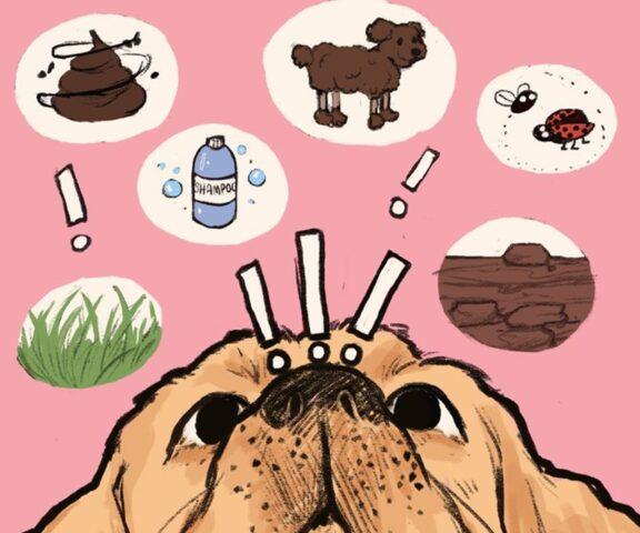 cane con pensieri