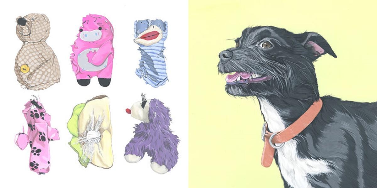 cane pupazzi distrutti