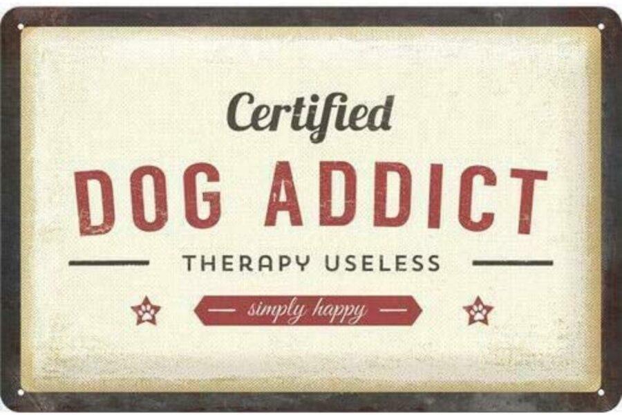 cartello per fissati con i cani