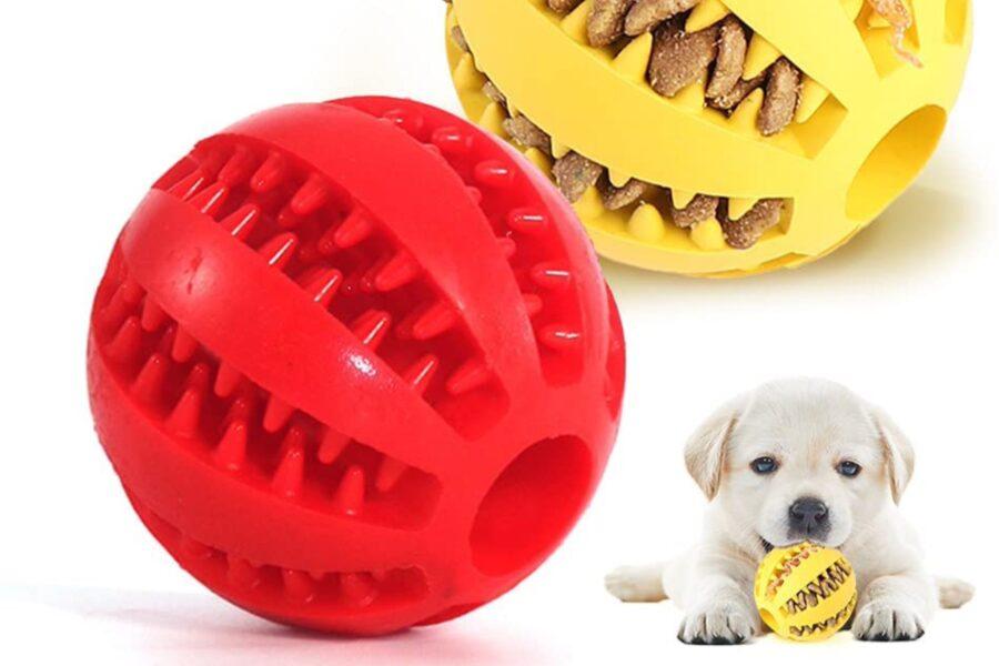 pallina ripiena per cani