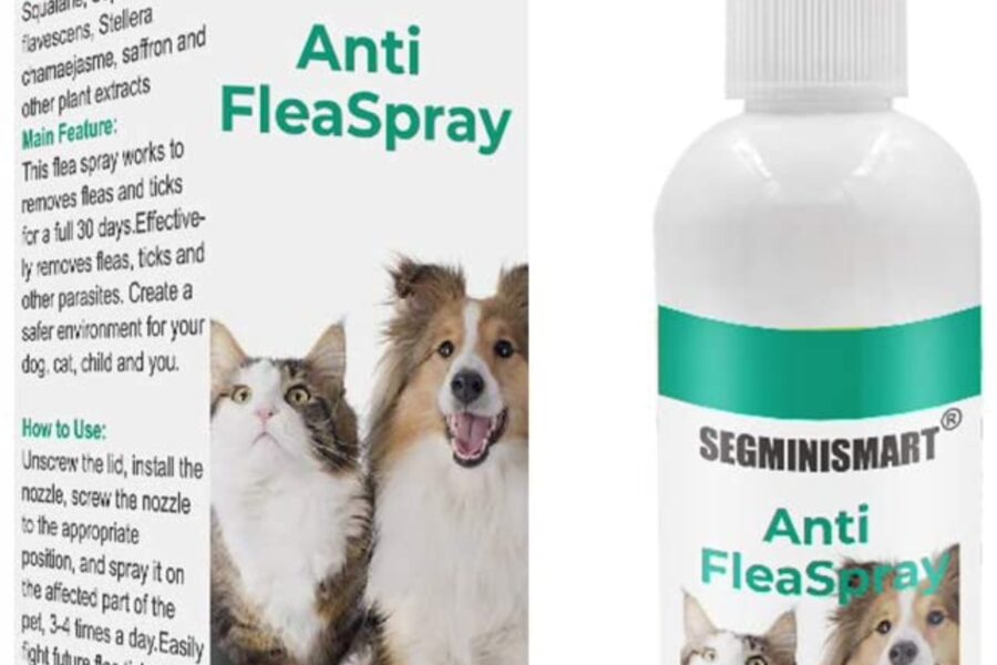 spray repellente contro pulci e zecche nel cane
