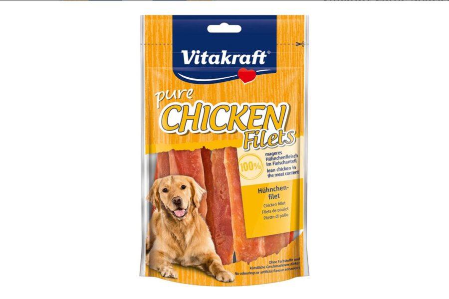 snack al pollo per cani