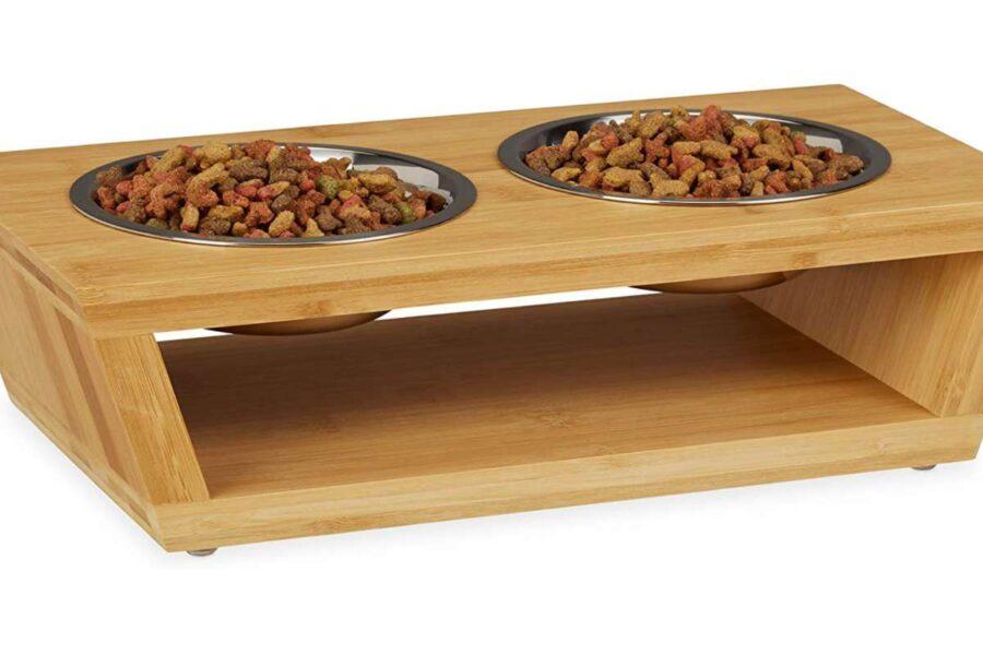 ciotole con base di legno