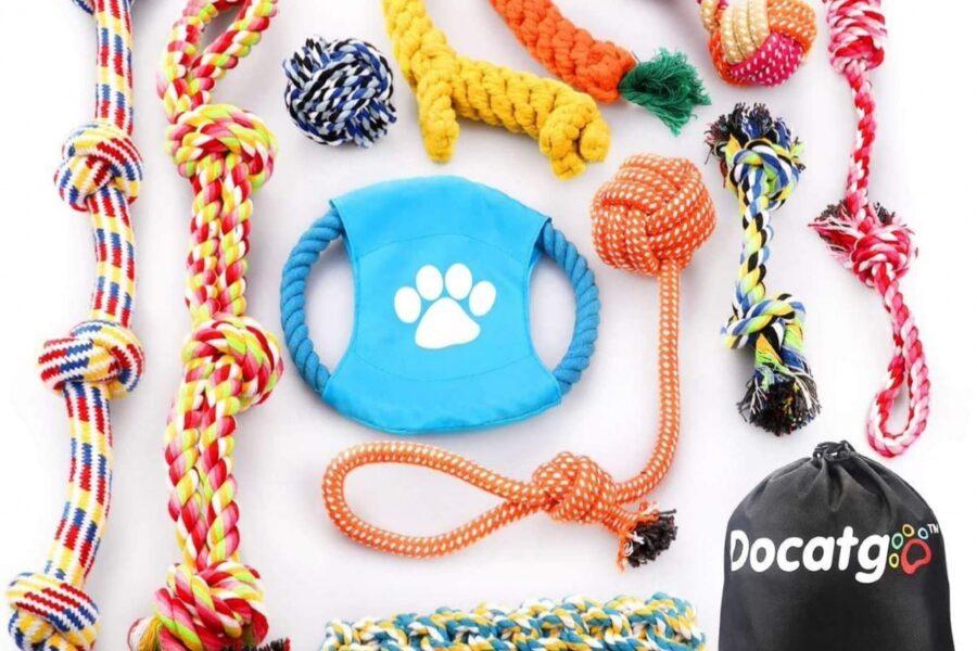 set di giochi per cani
