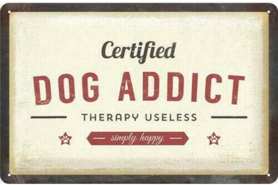 targa per amanti dei cani