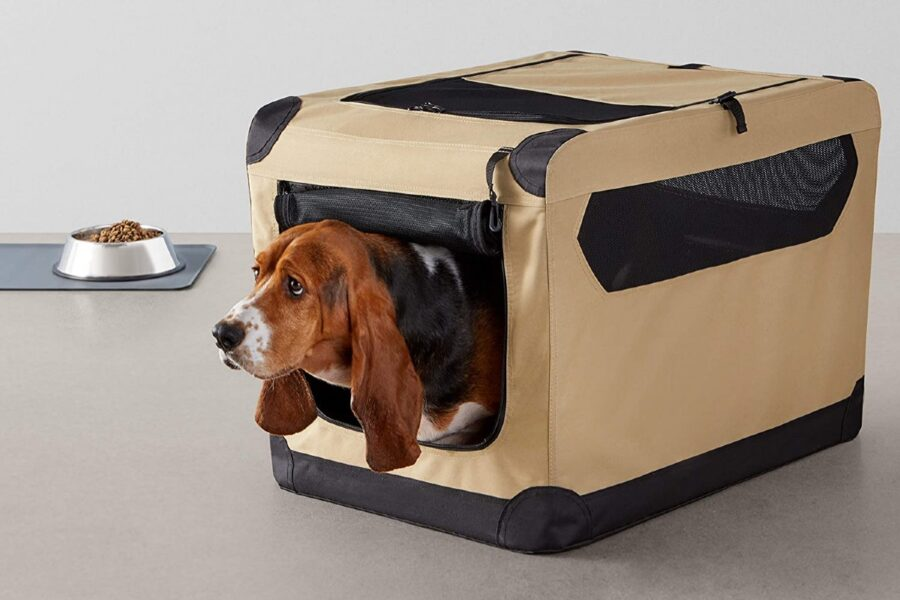 trasportino morbido per cuccioli di cane