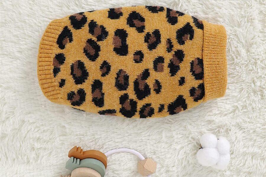 maglione maculato per il cucciolo di cane