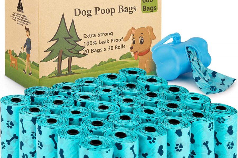 sacchetti con contenitore per cani